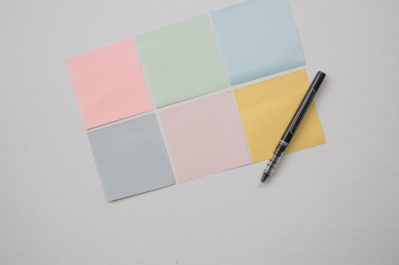 Post-its op een bord