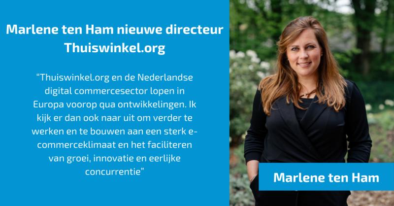 Marlene ten Ham gestart als directeur Thuiswinkel.org
